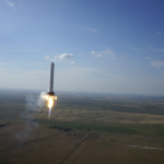 Be Boring SpaceX_Grasshopper_rocket_midflight