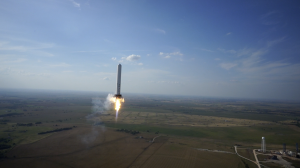 Be Boring SpaceX_Grasshopper_rocket_midflight Credit: SpaceX